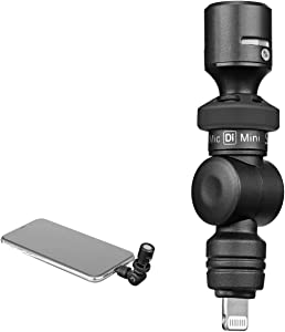iPhone Lightning Plug & Play Microphone, Saramonic SmartMic Di Mini Condenser Flexible Microphone with MFI Certified Lightning Port iPhone Apple Mic Compatible with iPhone iPad iPod Touch iOS Device