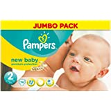 Pampers New Baby (Mini) Nappies Jumbo Pack - Size 2 (74 Nappies)