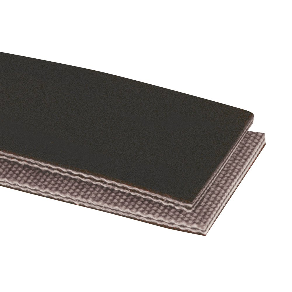 Apache 20104144-30 Polyester PVG Lightweight Belting, Cover x Brushed Surface, 2 Plies, 150 Working Tension, 0.172'' Thickness, Black