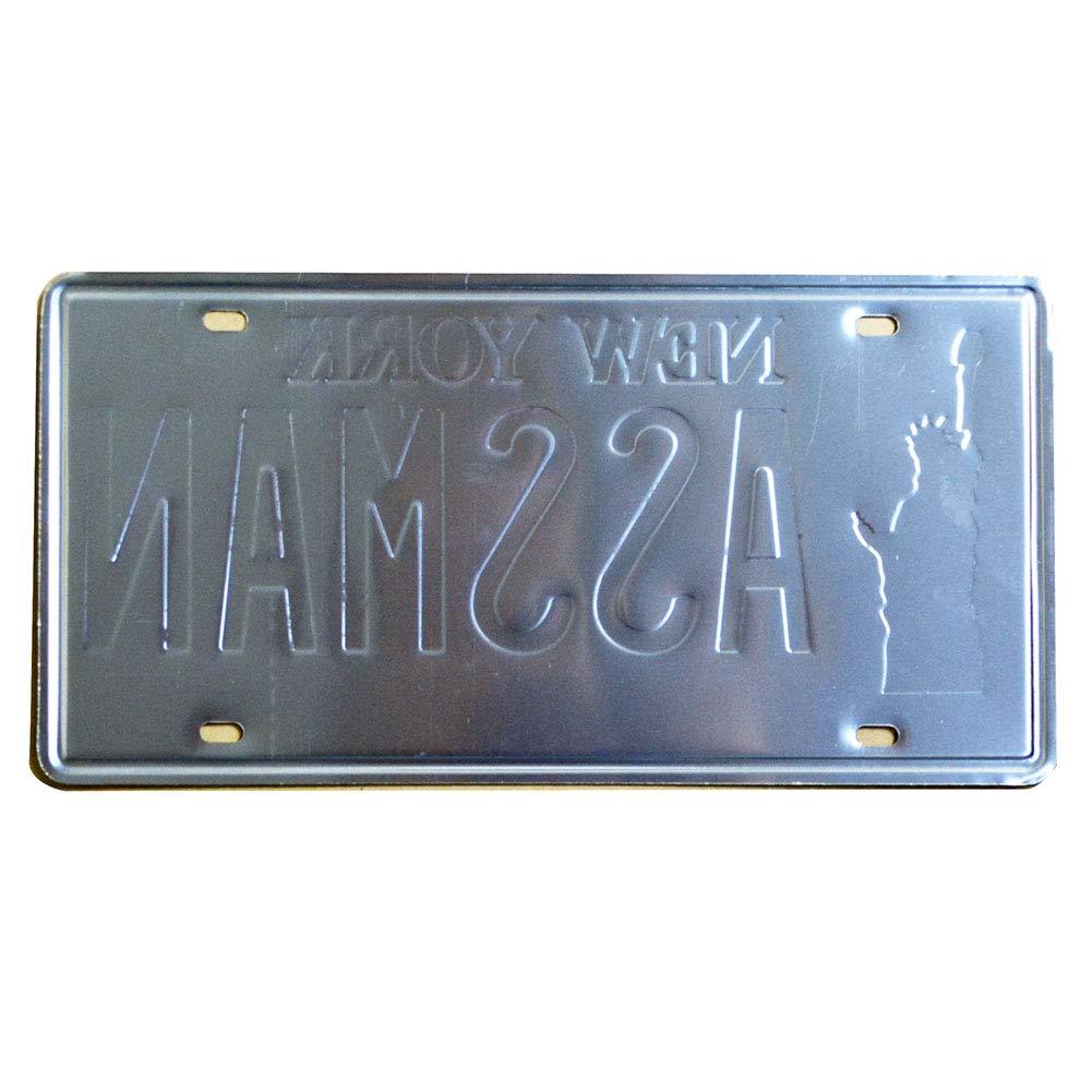 Embossed Vintage Prop Number Tag Seinfeld Cosmo Kramer Assman 6x12 Inch Vanity License Plate