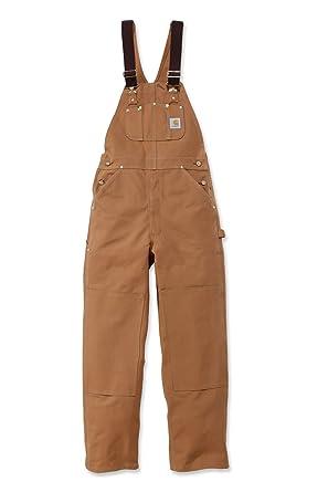 4cc34fe820 Carhartt Duck Bib Overall - R01 Work Overalls  Amazon.co.uk  Clothing