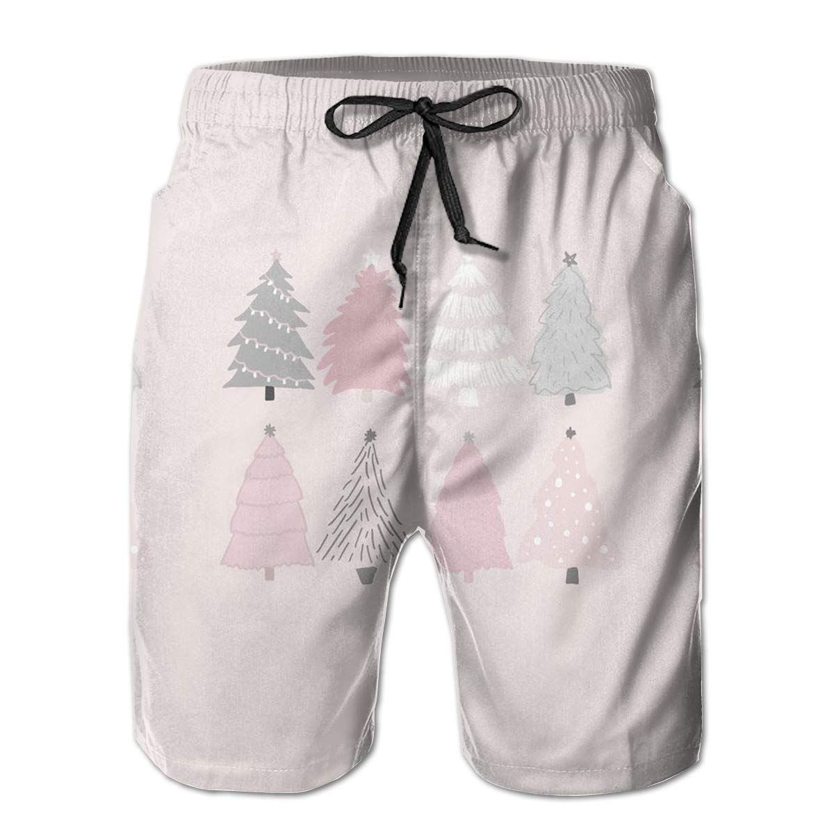 LDFUMG Christmas Tree Mens Beach Board Shorts Quick Dry Summer Casual Swimming Soft Fabric with Pocket