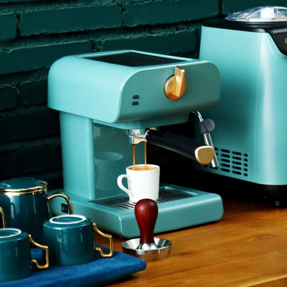 Cafetera verde retro, pequeña casa semiautomática, comercial ...
