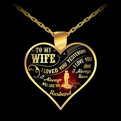 great idea wife gifts necklace to my wife pendant i loved you yesterday