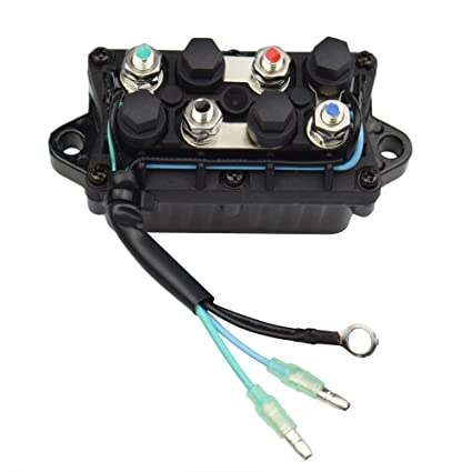 amazon com: minireen boat power trim and tilt relay assy for yamaha 30-90hp  outboard engine 6h1-81950-00-00: sports & outdoors