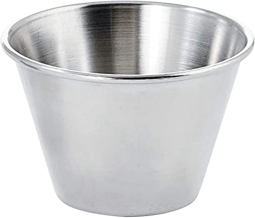Winco SCP-40 1 D... 4-Ounce Stainless Steel Round Ramekin Condiment Sauce Cups