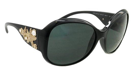 a1880440421 Versace Sunglasses VE 4244 B GB187 Acetate plastic - Rhinestones Black Grey   Amazon.co.uk  Clothing