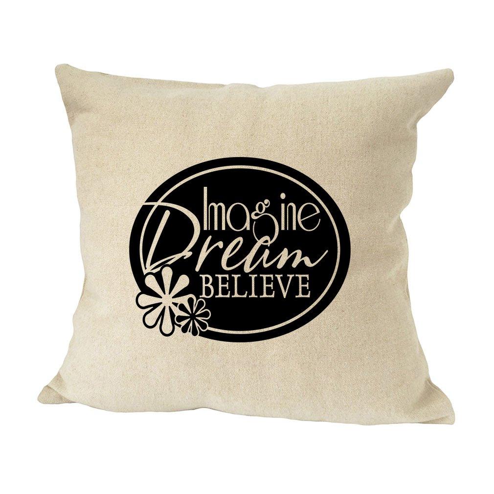 Imagine 贈与 Fream Believeソファベッドホーム装飾フェイクリネン枕カバー B01MQF7BYL 毎日続々入荷