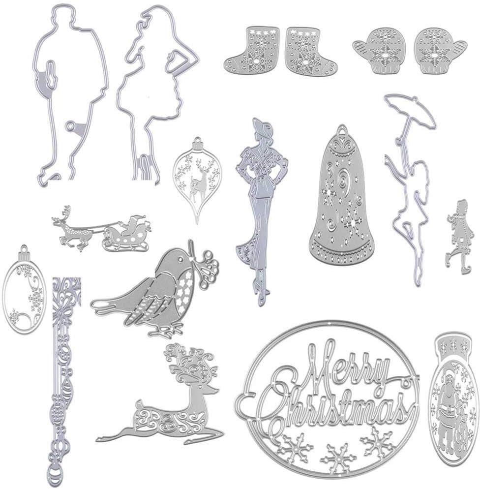 YSoutstripdu Cutting Dies Xmas Halloween Card Craft Metal Scrapbooking Embossing Stencil Love Cross