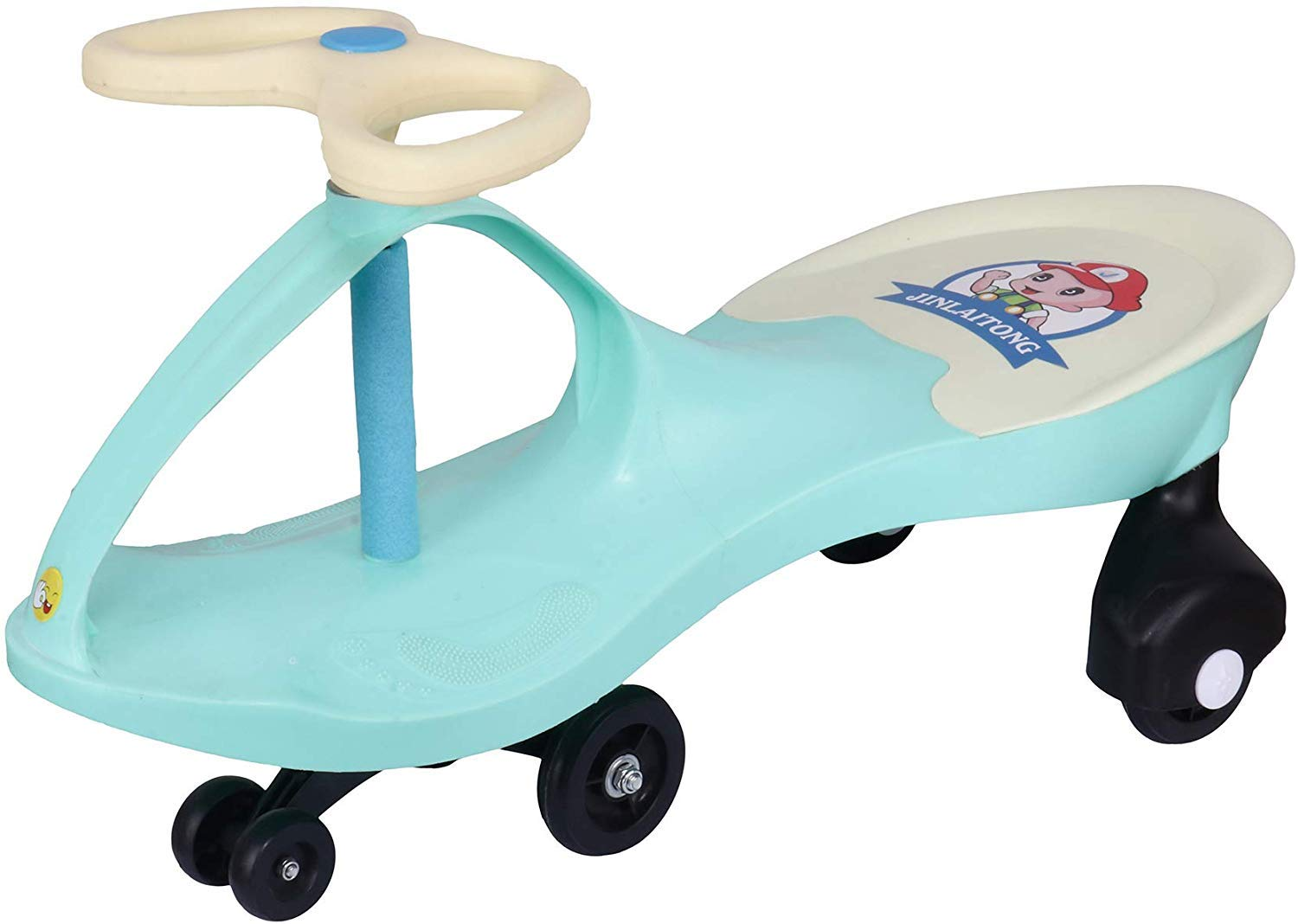 Webby Strong & Smooth Twister Magic Car, Weight Capacity 80 KG (Green)