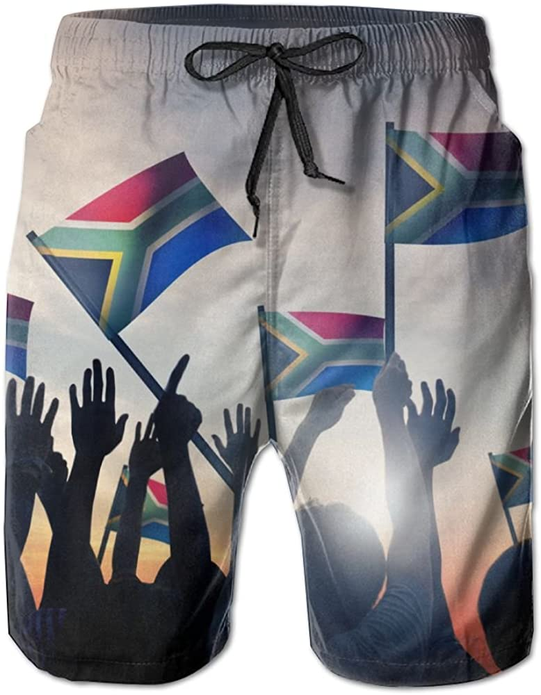 Beachsite South-African Mens//Boys Casual Quick-Drying Bath Suits Elastic Waist Beach Pants With Pockets