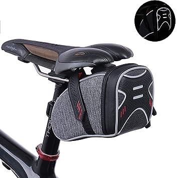 48dfe13f9dd MJLXY Bolsa De SillíN De Bicicleta Asiento De Bicicleta Almacenamiento  Trasero Bolsa De Cola Reflectante,