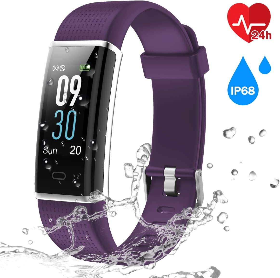 Pulsera Inteligente IP68, CHEREEKI Fitness Tracker Pantalla Color ...