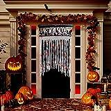 PeeNoke Spooky Halloween Party Asylum Door Curtain Decoration, Horror Decoration for Halloween Theme Party