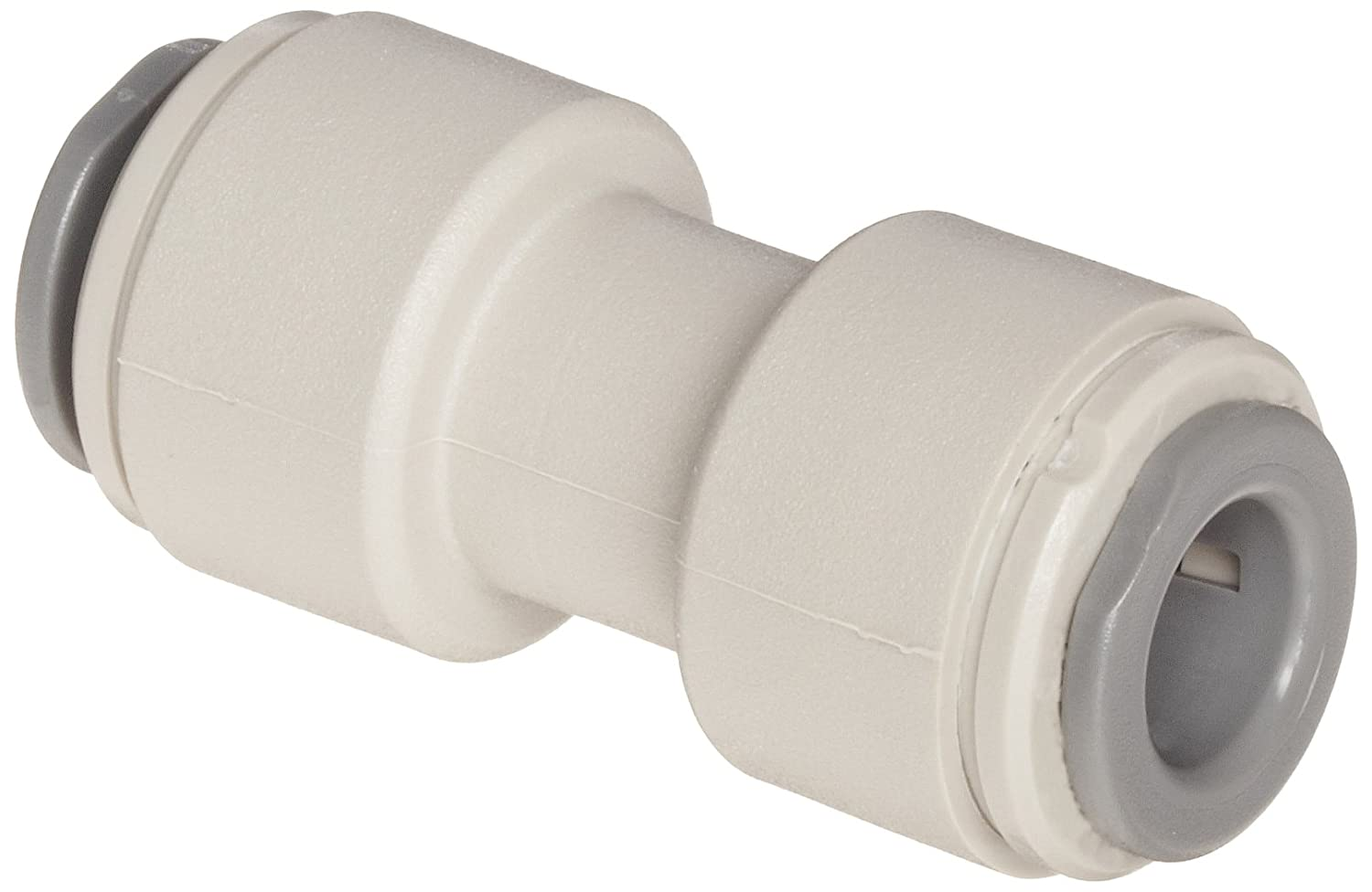 "John Guest Acetal Copolymer Tube Fitting, Union Straight Connector, 5/16"" Tube OD (Pack of 10)"