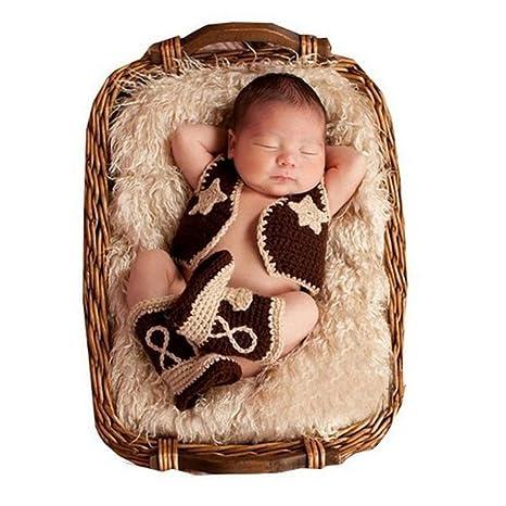 Bebé recién nacido fotografía apoyos niño Niña Crochet disfraz ...