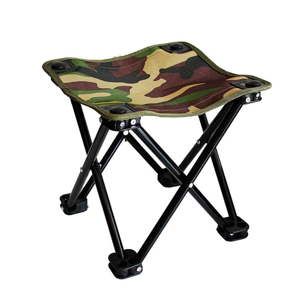 WETOO Portable Folding Camping Stool Square Camping chair for Camping Fishing