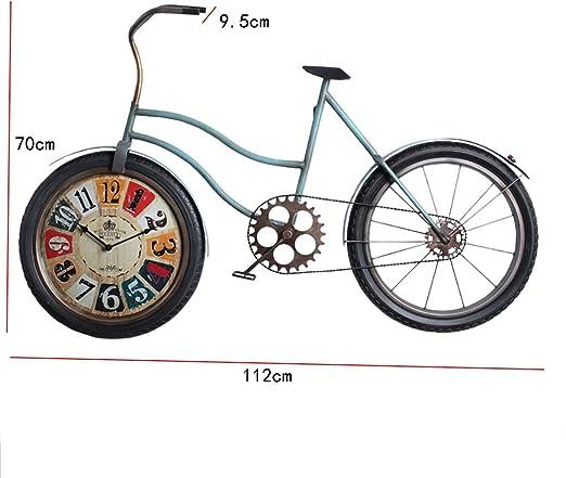 QBZS Decoración de Pared Decoración de Hierro Forjado de Pared - Accesorios de Bicicleta for Colgar en la Pared del Comedor - tapices de Barra 112 * 9.5 * 70cm (Color : C): Amazon.es: Hogar