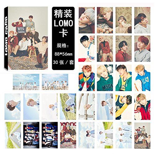 Card Photo Pack (AhlsenL We Are Crazy Fans Series Kpop Photo Album Postcards BTS Love yourself Theme LOMO Card Mixed Pack 30pcs (BTS-2))