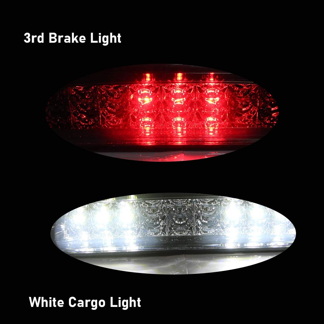 NPAUTO LED Third 3rd Brake Light Cargo Lamp Replacement for 2009-2018 Dodge Ram 1500 2500 3500 High Mount Stop Light Assembly