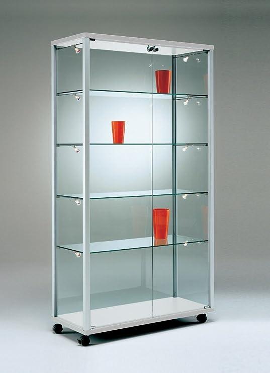 MHN Vitrina de Cristal con Cerradura para exposiciones, Amplia ...