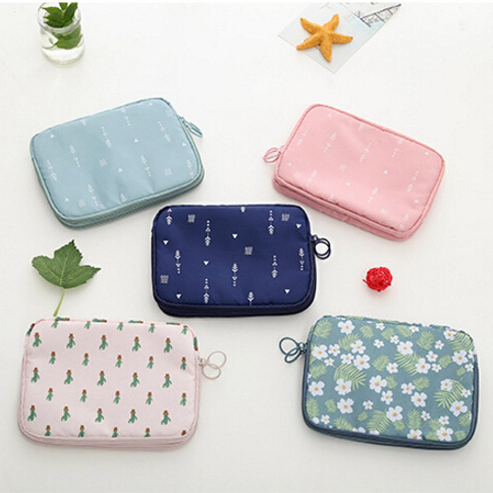 Yardwe Travel Wallet Passport Holder Multifunction Credit Card Holder Toiletry Bags Flower