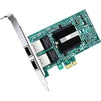 ipolex Gigabit Carte réseau-Intel 82576 Chip 1G Gigabit Carte réseau convergé (NIC) Ethernet PCI Express 2.0 X1 Dual RJ45 Cuivre Ports pour Windows Server, Linux, PC, VMware ESX.