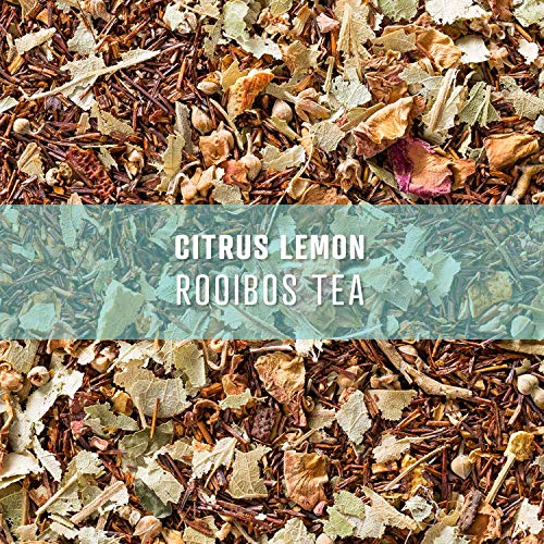 Elevate Tea CITRUS LEMON ROOIBOS TEA, Loose Leaf Tea Blend, 90 servings, 3-Pack of 3 Ounce Pouches, Caffeine Level: None