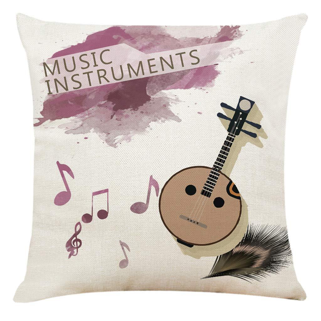 Muium 🔥🔥 Funda de cojín Instrumento Musical Funda de Almohada ...