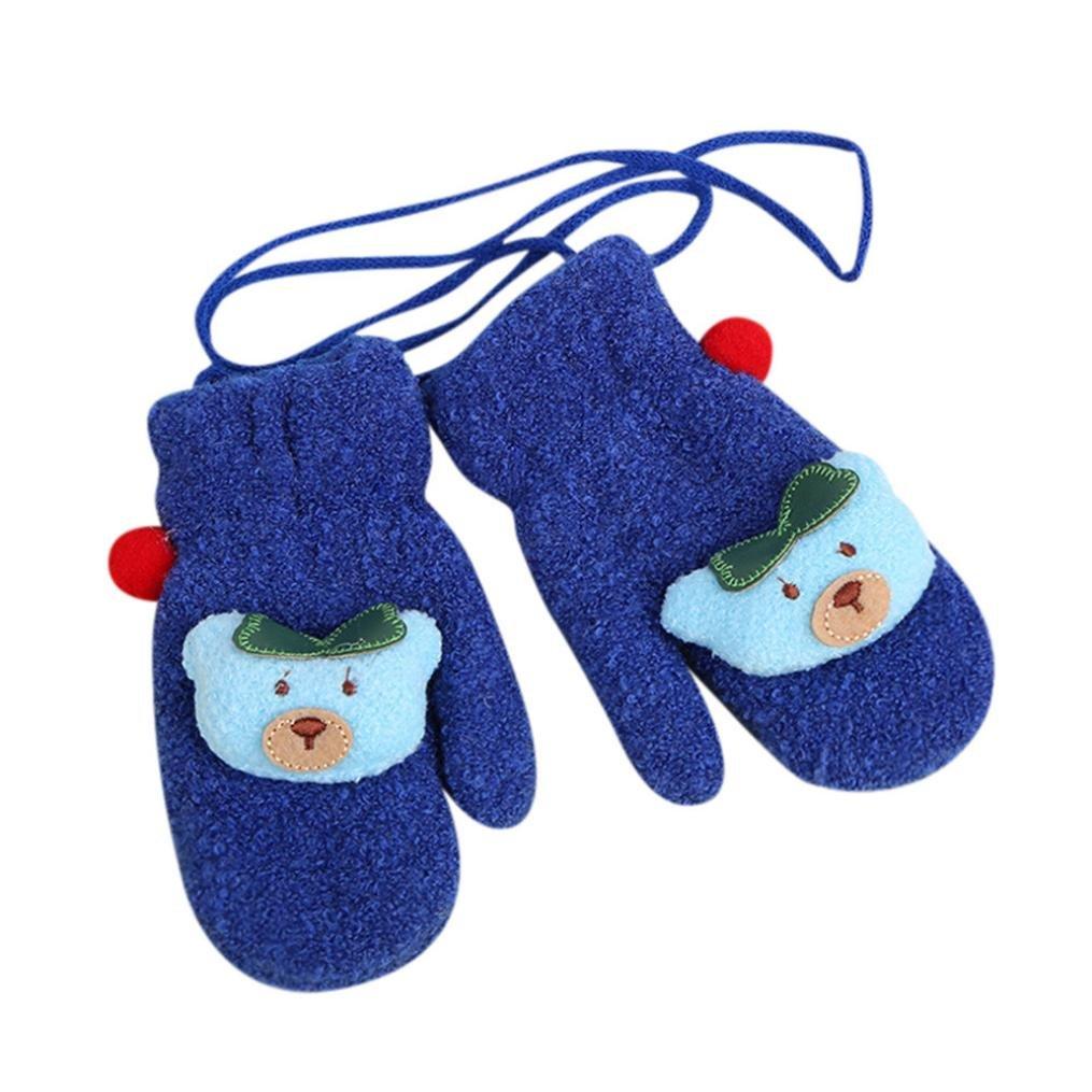 SetMei Toddler Baby Girls Boys Cute Thicken Cartoon Winter Warm Gloves For 1-5 Years old