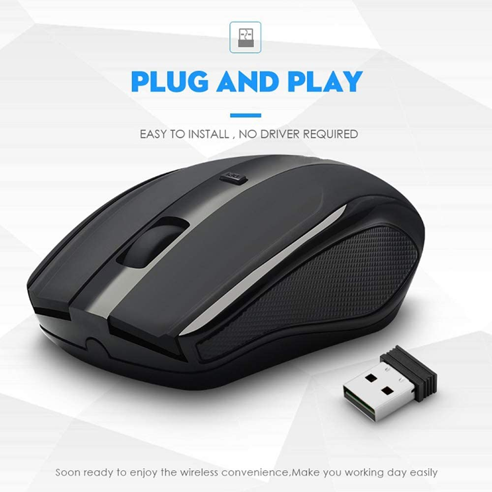 2.4G Wireless Mouse Notebook Desktop Universal Home Office Game Programming Mute Mouse JJJ Computer Mice