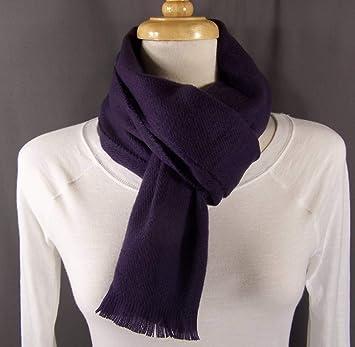 f68c97c20f627 Amazon.com : Dark Purple smooth flat knit wool touch feel scarf 56 long  winter wrap soft : Beauty