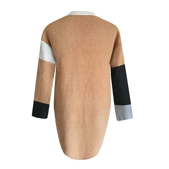 Luckycat Abrigo de Lana Holgado de Invierno de Mujer Abrigo de Jersey de algodón Grueso de Punto Largo: Amazon.es: Ropa y accesorios