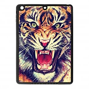 IPad Air Case,Tiger Roar Hipster Quote Hign Definition Wonerful Design Cover With Plastic Protective Rubber Case