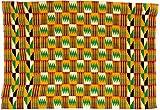 Fair Trade Kenya African Ghana Kente Cloth, 58 '' Across Approximately, #7717