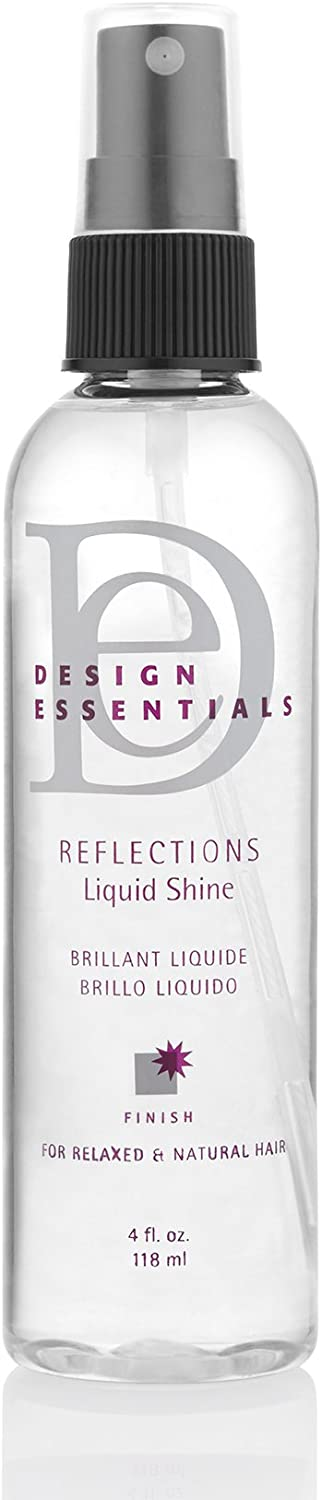 Design Essentials Reflections Liquid Shine Humidity Resistant Hair Polish for a Luminous Oil-Free Lightweight Finish-4oz.