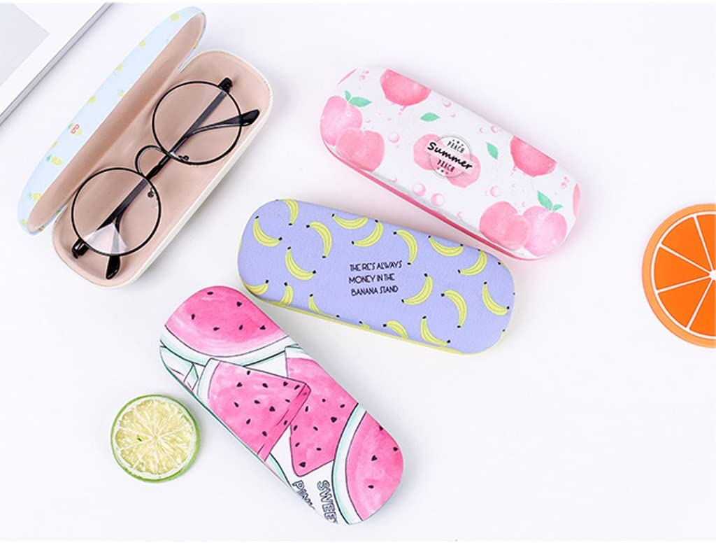 YDZN Protable Sunglasses Case,Fruit Pattern Hard Shell Eye Glasses Eyewear Protector Storage Box Pouch Bag