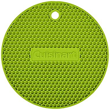 Cuisinart Multipurpose Silicone Kitchen Tool, Trivet/Pot Holder, Spoon Rest, Jar Opener, Coaster, Round Heat Resistant Pad, Lime Green