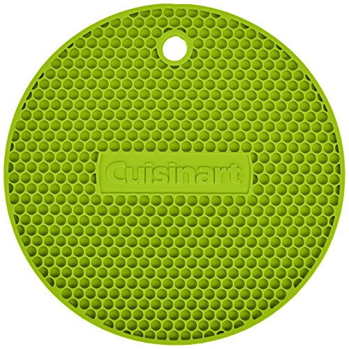 se Silicone Kitchen Tool, Trivet/Pot Holder, Spoon Rest, Jar Opener, Coaster, Round Heat Resistant Pad, Lime Green ()