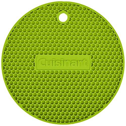 Cuisinart Multipurpose Silicone Kitchen Tool, Trivet/Pot Holder, Spoon Rest, Jar Opener, Coaster, Round Heat Resistant Pad, Lime Green