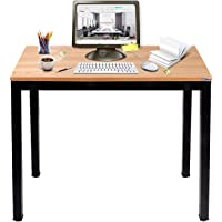 Need Small Computer Desk for Home&Office- 31.5'' Length Small Writing Desk Gaming Desk Students Laptop Use, Teak Color…