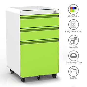 dripex fully assembled 3 drawer mobile file cabinet a4 file
