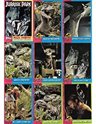 JURASSIC PARK 1 SERIES 2 MOVIE 1993 TOPPS BASE CARD & STICKER CARD SET 66 + 11