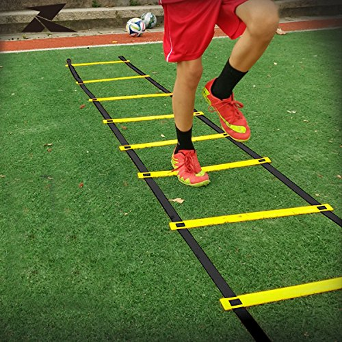 Gotobuy 8-rung Agility Ladder Speed Fitness Yellow