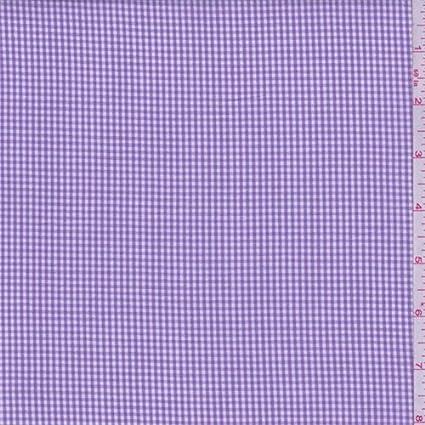Camisa de algodón de cuadros color lila con tela por el patio