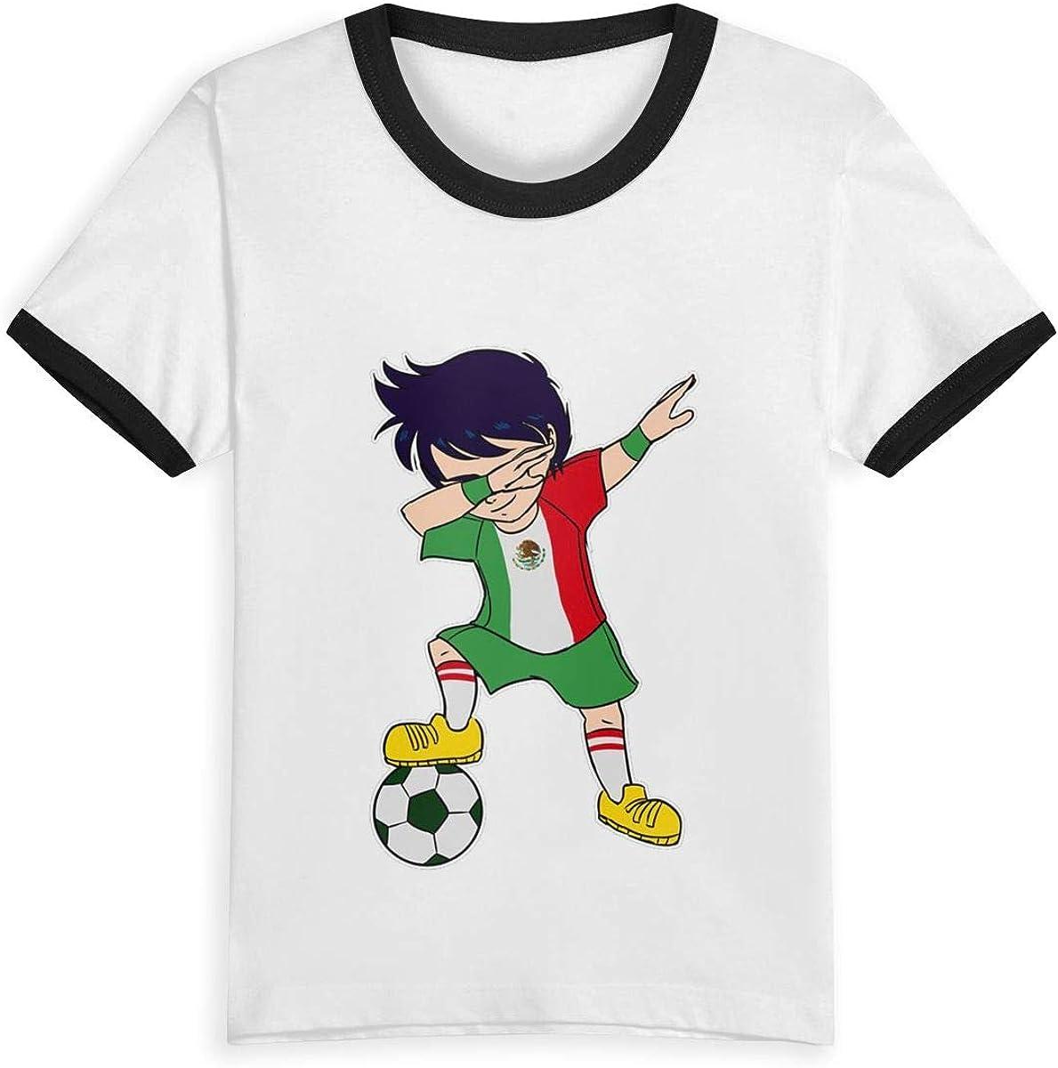 AMMAaaa Dab Football Kids T-Shirt Childrens Short Sleeve Shirts Printed Boys Girls