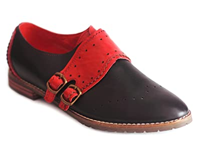 limited guantity pretty nice amazing price YOMA STORE Jube - Two Colour Side Buckle Brogues (4, Black ...