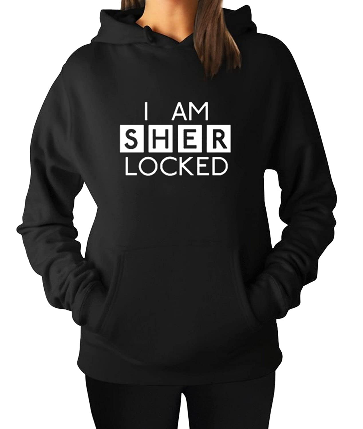 Womens Mens Unisex I Am Sherlocked Hoodie Hooded Sweater Sweatshirt