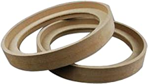 """Nippon 6.5"""" MDF Speaker Ring Recess with Bezel (Pair)"""