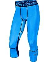 Nike Men's Dri-Fit Pro Hypercool Compression 3/4 Training Tights (blue)